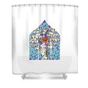 Horahorahora Shower Curtain