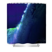 Horeseshoe Falls Abstract Shower Curtain