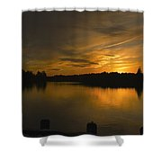 Horicon Lake, Lakehurst, Nj Shower Curtain