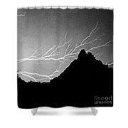 Horizonal Lightning Bw Shower Curtain