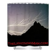 Horizonal Lightning Poster Shower Curtain