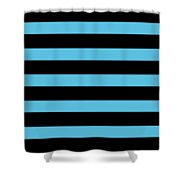 Horizontal Black Outside Stripes 05-p0169 Shower Curtain