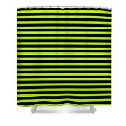 Horizontal Black Outside Stripes 18-p0169 Shower Curtain