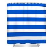 Horizontal White Inside Stripes 05-p0169 Shower Curtain