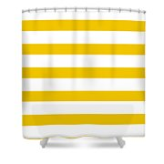 Horizontal White Outside Stripes 05-p0169 Shower Curtain