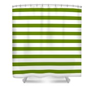 Horizontal White Outside Stripes 09-p0169 Shower Curtain