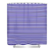 Horizontal White Outside Stripes 30-p0169 Shower Curtain