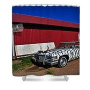 Horn Dog Shower Curtain