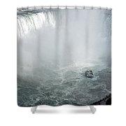 Hornblower Ferry At Horseshoe Falls Shower Curtain