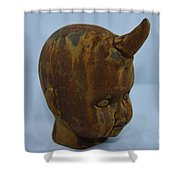 Horned Baby Shower Curtain