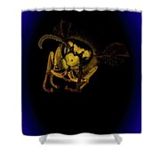 Hornet Macro Shower Curtain