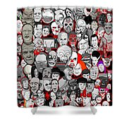 Horror Icons Shower Curtain