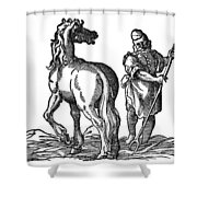 Horse & Groom Shower Curtain