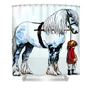 Horse And Groom Shower Curtain