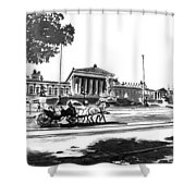 Horse And Parliament Shower Curtain