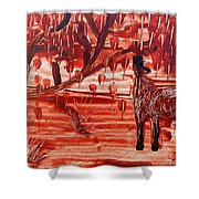 Horse And Tree Shower Curtain