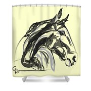 horse - Apple digital Shower Curtain