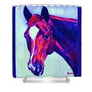 Horse Art Horse Portrait Maduro Psychedelic Shower Curtain