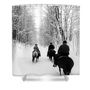 Horse Back Riding Shower Curtain