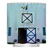 Horse Barn  Shower Curtain