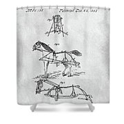 Horse Bridle Patent Shower Curtain