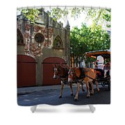 Horse Carriage At Kings Street Shower Curtain