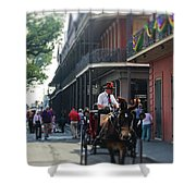 Horse Carriage Ride Shower Curtain