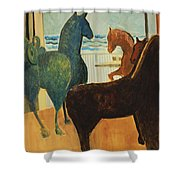 Horse Collection Shower Curtain
