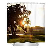 Horse Country Sunset Shower Curtain