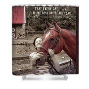 Horse Crazy Quote Shower Curtain