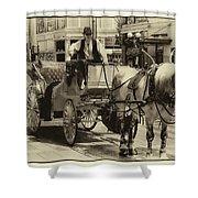 Horse Drawn Carriage Shower Curtain