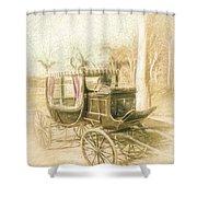 Horse Drawn Funeral Cart  Shower Curtain