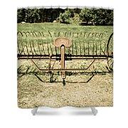 Horse Drawn Hay Rake Aged Shower Curtain
