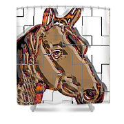 Horse Faces Of Life 4 Shower Curtain