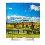 Horse Farm 6 Shower Curtain