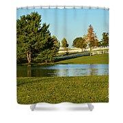 Horse Farm Pond Shower Curtain
