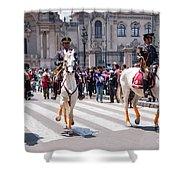 Horse Guard At Parade Shower Curtain