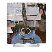 Horse Guitar Shower Curtain