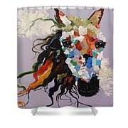 Puzzle Horse Head  Shower Curtain by Rosario Piazza