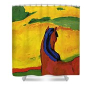 Horse In A Landscape 1910 Shower Curtain