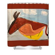Horse In Contemplation Shower Curtain