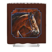 Horse Painting - Ziggy Shower Curtain by Crista Forest