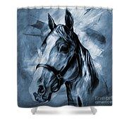 Horse Portrait  Shower Curtain