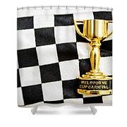 Horse Races Trophy. Melbourne Cup Win Shower Curtain