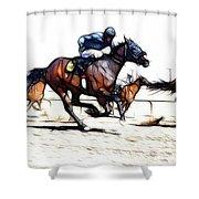 Horse Racing Dreams 1 Shower Curtain