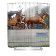 Land Owner  Shower Curtain