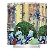 Horse Riding 2 Shower Curtain