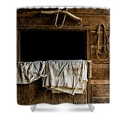 Horse Stall Shower Curtain