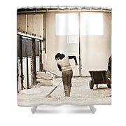 Horse Work Shower Curtain