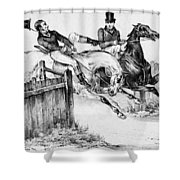 Horseback Riders, C1840 Shower Curtain